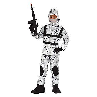 Costume de robe de fantaisie de soldat arctique de garçons