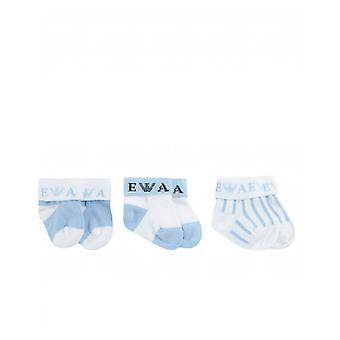 Armani Junior 3 Pack Of Baby Socks