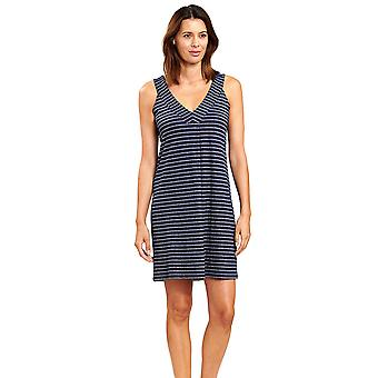 Féraud 3205101-16350 Women's Ringlet Navy Blue Striped Beach Dress