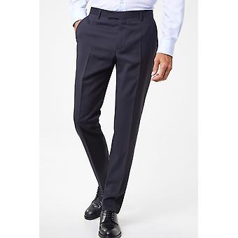 Straight-cut virgin wool trousers