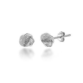 Sterling silver 4mm love knot earrings