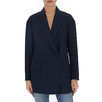 Fendi Fj7023o2rf19ej Women's Blue Silk Blazer