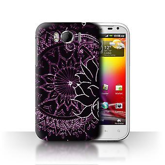 STUFF4 Case/Cover for HTC Sensation XL/G21/Black/Purple/Henna Paisley Flower