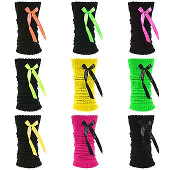 Ladies/Womens Thermal Leg Warmers With Bows (1 Pair)