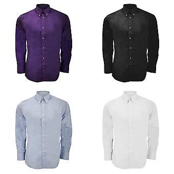 Kustom Kit heren lange mouw maat Fit Premium Oxford Shirt