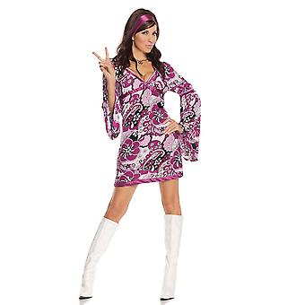 Elegant Moments Vintage Vixen Retro Disco Hippy Halloween Costume