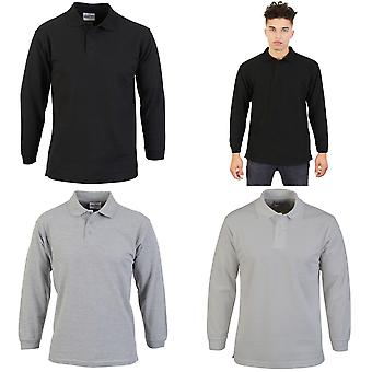 Absolute Bekleidung Herren Long Sleeve Polo-Shirt