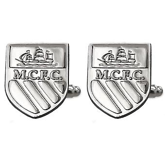 Manchester City FC Official Football Gift Boxed Chrome Executive Cufflinks