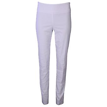 Up! White Thincredible Slim Fit Pull On Trousers
