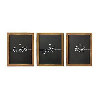 Be Kind Be Gentle Be Humble Set van 3 Wall Art