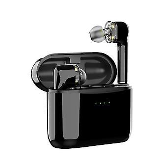 Sanag btw116 qcc3020 apt tws bluetooth earphone dual dynamic hifi stereo bass headphone for iphone xiaomi huawei (zwart)