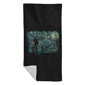 Stranger Night Stranger Things Van Gogh Mashup Beach Towel