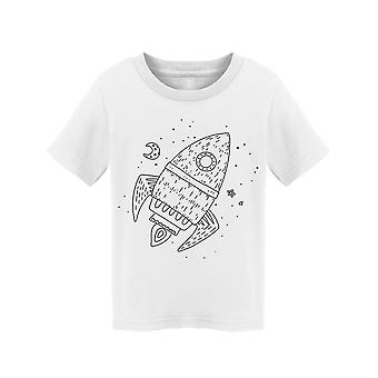 Rocket Orbiting In Space Tee Toddler's -Image by Shutterstock