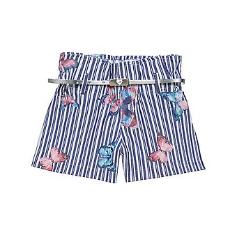 Alouette Girls' Striped Shorts With All Over Motion And Belt