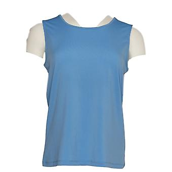 NorthStyle Women's Top Tank Scoop Neck Stretch Blue