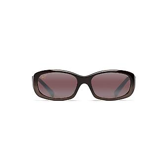 Maui Jim Womens Punchbowl Rectangular Sunglasses - Chocolate Fade/Maui Rose Polarized - Small
