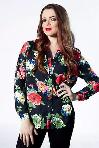 Floral luxury designer inspired blouse