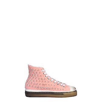 Gienchi Gxdaltp330acc0b307 Women's Pink Cotton Hi Top Sneakers