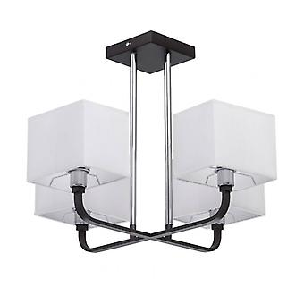 Black Pendant Light Megapolis 4 Bulbs 39 Cm