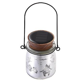 Yescom 2-Pack Solar Powered Jar Light LED Color Changing Hanging Lamp Halloween Garden Yard Patio Outdoor Decor