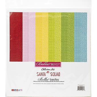 "Bella Besties Double-Sided Paper Pad 12""X12"" 12/Pkg-Santa Squad"