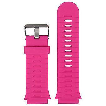 Horlogeband gemaakt door strapsco voor garmin voorloper 920xt roze siliconen horlogeband