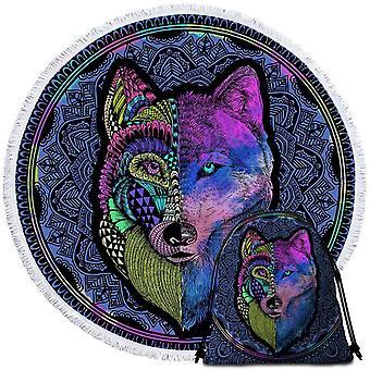 Taiteellinen violetin Wolf ranta pyyhe