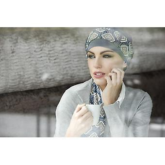 Women's turban hats - Yanna grey diamond
