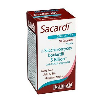 Sacchardi (Saccharomyces Boulardii) 30 vegetable capsules