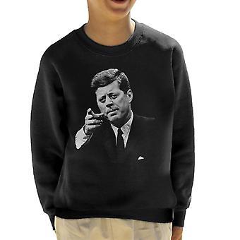 The Saturday Evening Post John F Kennedy Point Kid's Sweatshirt