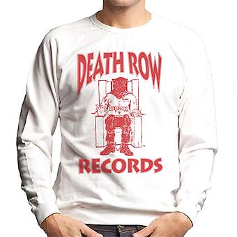 Death Row Records stoel Logo rood mannen Sweatshirt