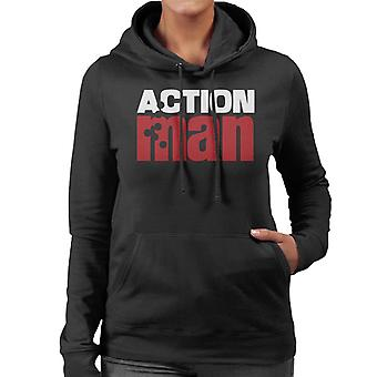 Action Man Logo Bullet Hole Women's Hooded Sweatshirt