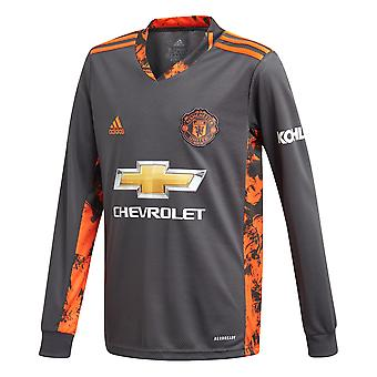 adidas Manchester United 2020/21 Kinder Home Torwart Shirt Grau/Orange