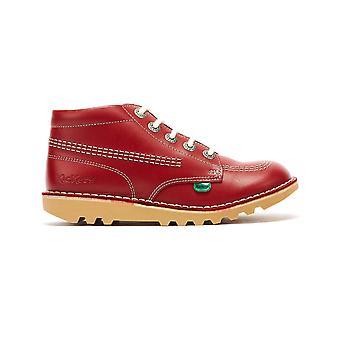 Kickers Kick Hi Zip Junior Red / White Leather Boots