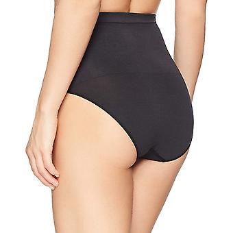 Arabella Women's Matte and Sheer Seamless Shapewear Brief, Black, Medium