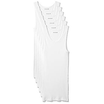 أساسيات الرجال & apos;ق 6-حزمة خزان تحت القمصان, أبيض, الصغيرة