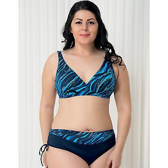 Aqua Perla Womens Bahia Blue Bikini Bottom Plus Size