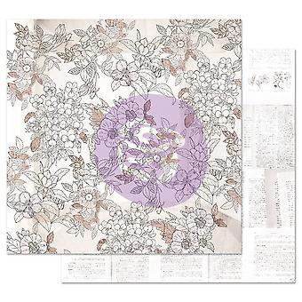 Prima Marketing Pretty Pale 12x12 Inch Sheets Pretty in Pale