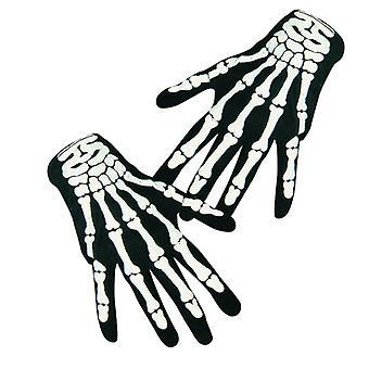Csontváz kesztyű fekete csont csontok Halloween horror ruha kiegészítő