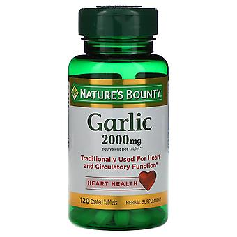 Nature's Bounty, Garlic, 2,000 mg, 120 Coated Tablets