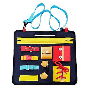 Activity Board Puzzle - Learning Fine Motor Skills To Dress Up