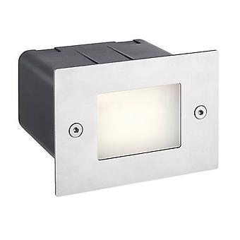Integrerad LED Utomhus Infälld Ljus Marin grade borstad rostfritt stål, Frostat IP44