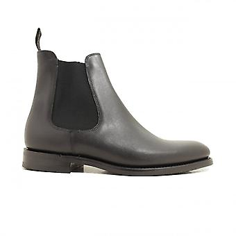 Loake Wickstead Black Calf Leather Mens Chelsea Pull On Boots