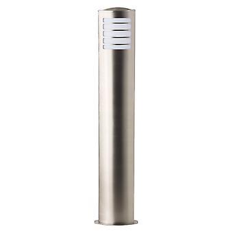 BRILLIANT Lampe Todd Außenstandleuchte edelstahl | 1x A60, E27, 20W, geeignet für Normallampen (nicht enthalten) | Skala