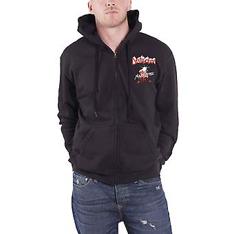 Destruction Hoodie Mad Butcher Band Logo nouveau Officiel Mens Black Zippé