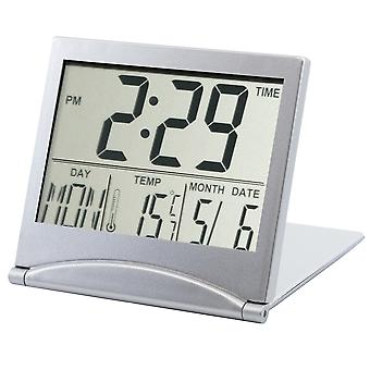 TRIXES Digital LCD Desk Clock Temperature Travel Alarm Clock