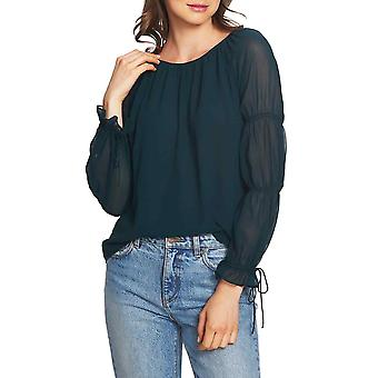 1.State | Boy Meets Girl Long Sleeve Tie Blouse