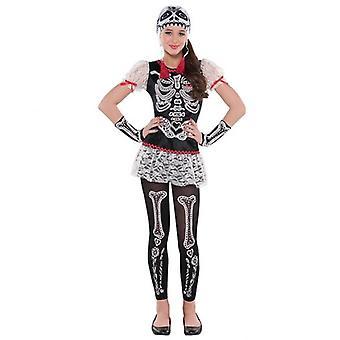 Amscan Frechskelett Kostüm Kind 8-10 Jahre