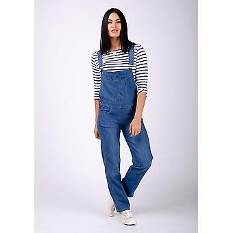 Dottie ladies regular fit dungarees - lightwash