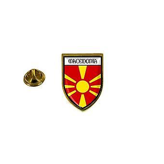 pino pino pino pino pino pin-apos;s recuerdo bandera de la ciudad país macedoine macedonios escudo de armas